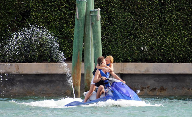 Shakira and Gerard Pique jet-skiing in Miami