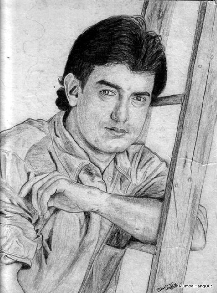 Lovely pencil sketch of bollywood actor actress