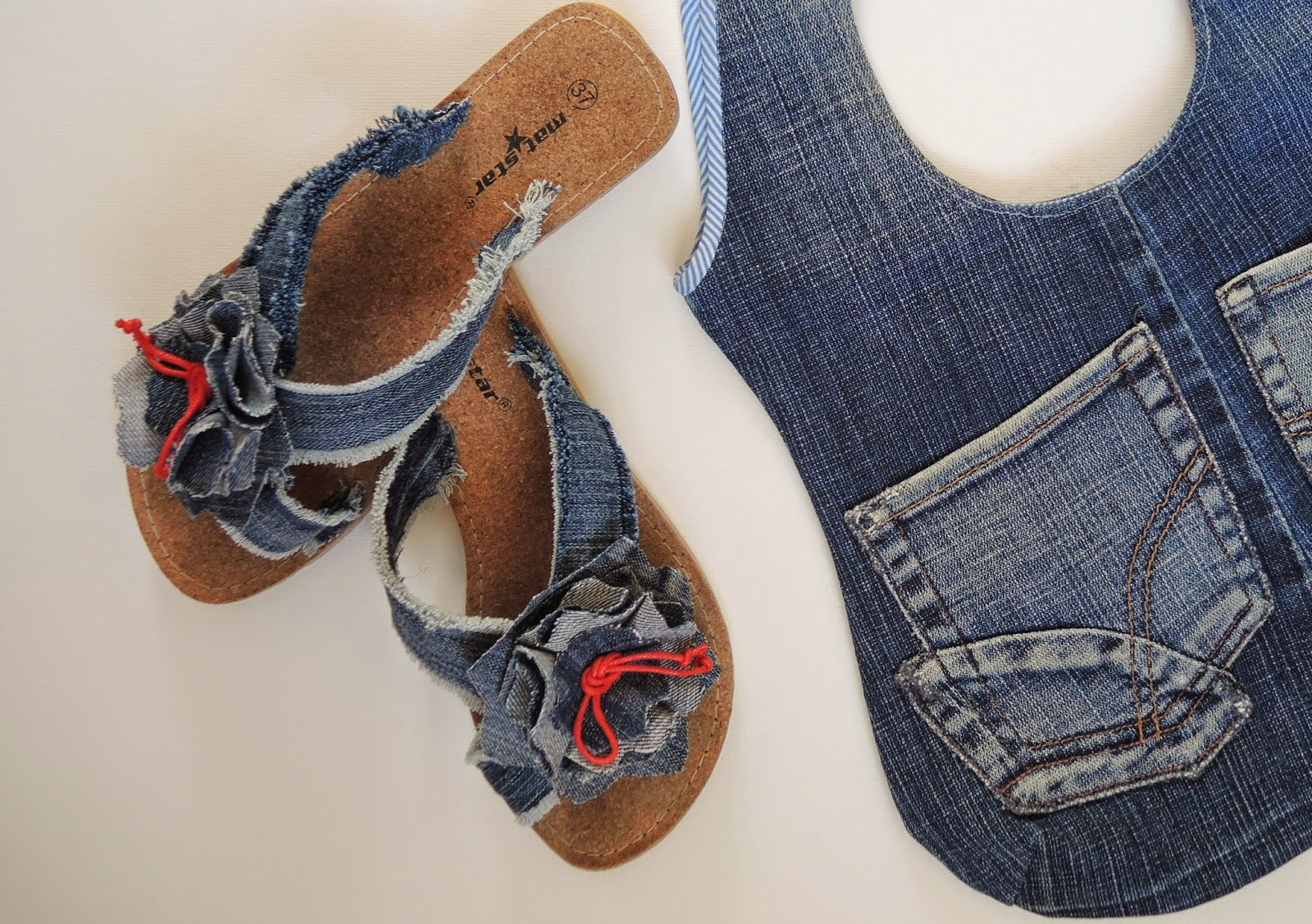 Сшить обувь из старых джинсов