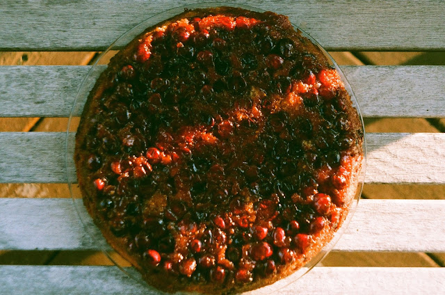 Cranberry Upside Down Cake on film