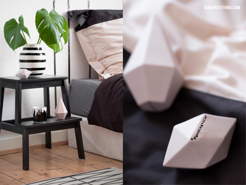 Schlafzimmer Details mit Bloomingville Diamanten