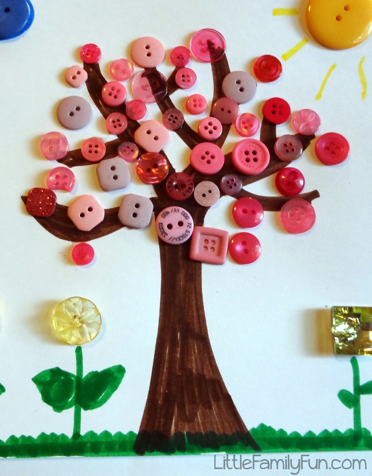 spring button craft for kids
