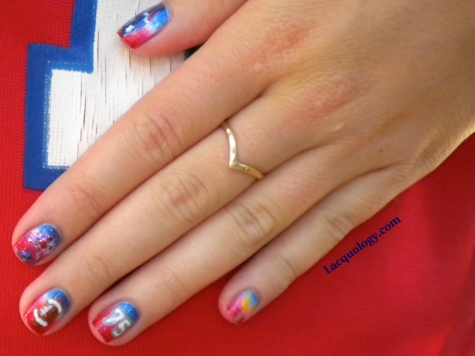 nfl patriots nail designs