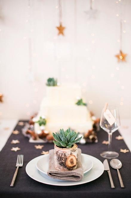 Una mesa de navidad rustica - Mesas de navidad 2016 ...
