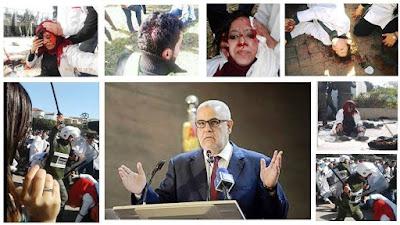 بنكيران يهشم عظام الاساتذة المتدربين مع سبق الاصرار والترصد و يهدد السلم الاجتماعي للمغاربة