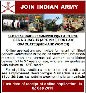 Indian Army (www.tngovernmentjobs.co.in)