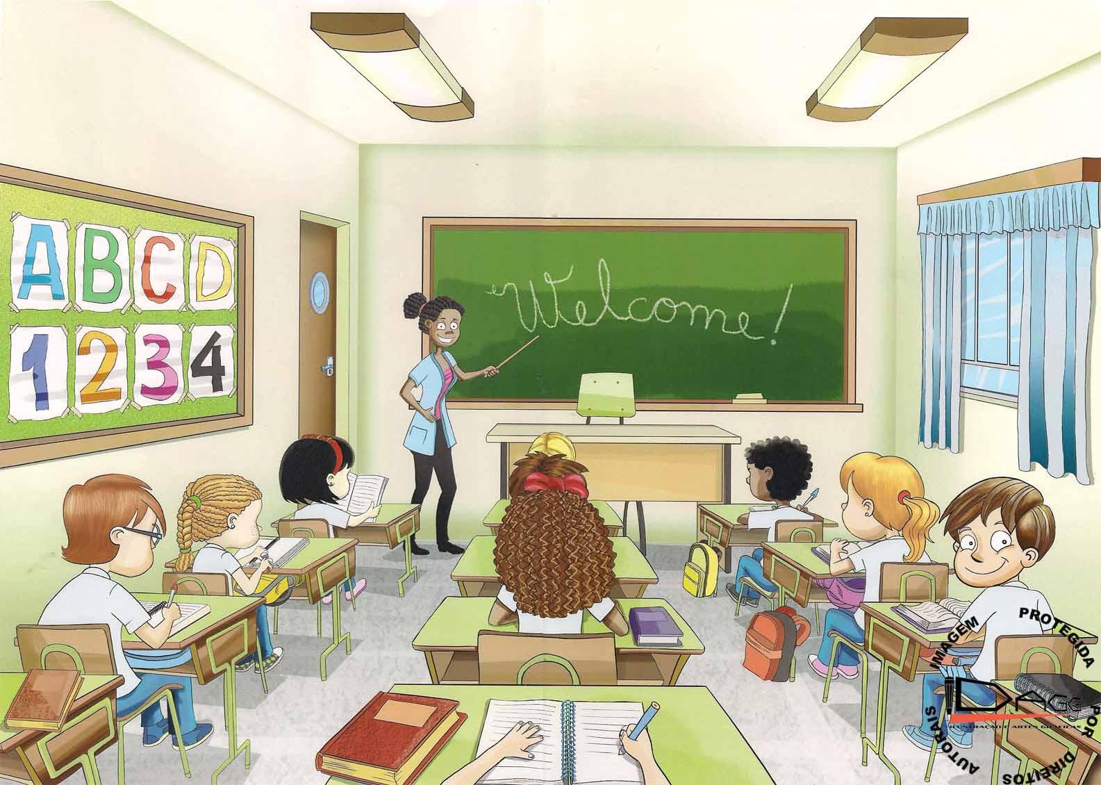 O Universo Da L Ngua Inglesa Aulas Sobre Est Gio De L Ngua Inglesa  -> Imagens De Sala De Aula