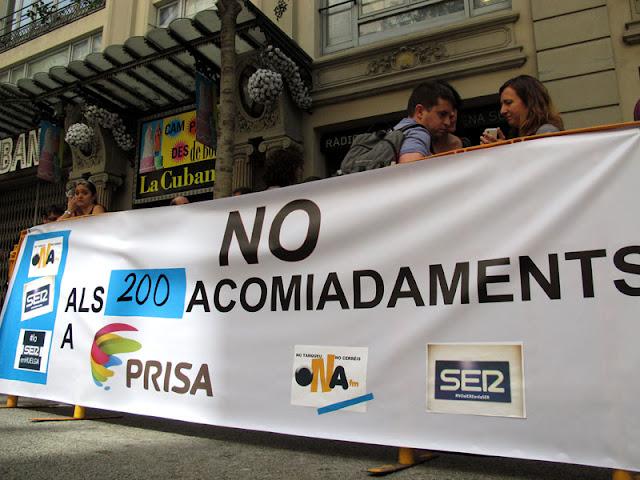 La Cadena Ser en huelga, en Barcelona