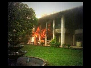 foto kebakaran kampus pertanian unlam
