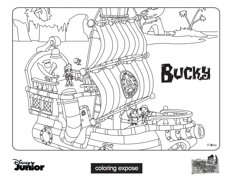 Bucky Jake and The Neverland Pirates Coloring Pages Coloring Expose