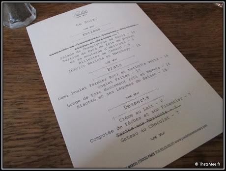 nouveau resto bistrot Poulette rue Etienne Marcel Paris menu carte plats