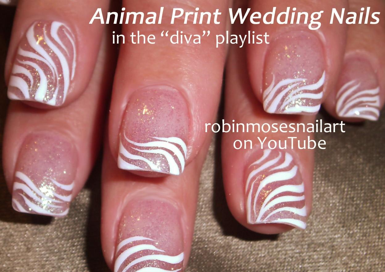 Cute Zebra Print Nail Designs