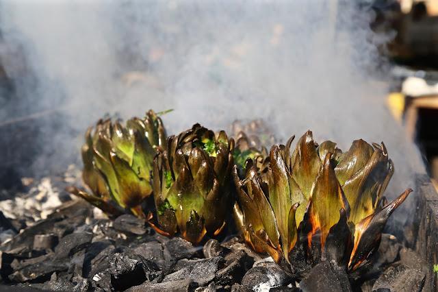 bbq artichokes,  catania, sicily