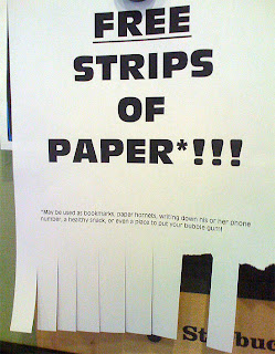 funny poster flyer free strips of paper