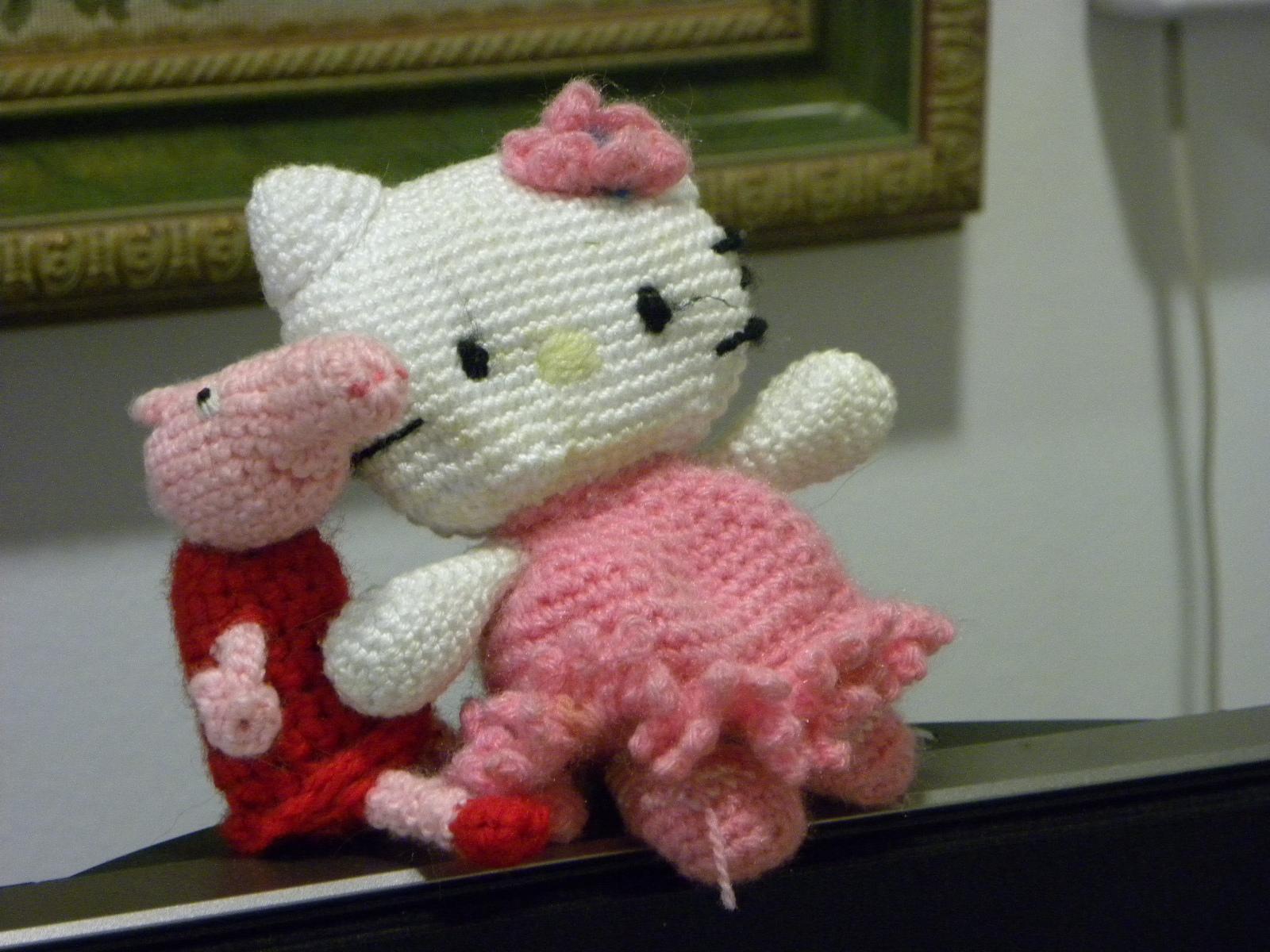 La mirada de un gato: Un amigurumi de Peppa Pig