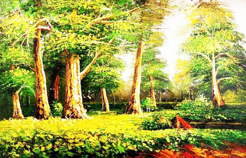 cuadros de paisajes fciles para pintar al leo paisajes pintados al leo sobre lienzo paisaje con rboles paisaje pintura en leo