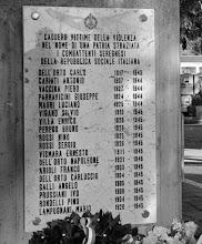 SEREGNO (MI)- lapide al sacrario del camposanto dei caduti della R.S.I.