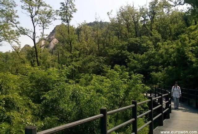 Senderos del monte Ansan de Seúl