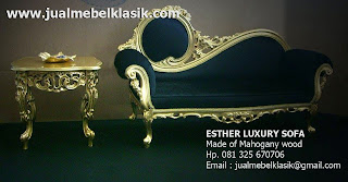 Supplier indonesia classic furniture classic wooden sofa gold leaf painted sofa mahogany