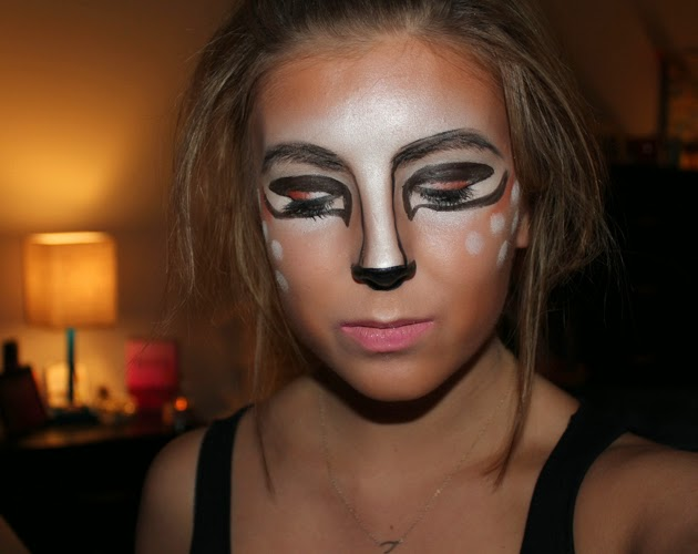 deer make up, tutorial