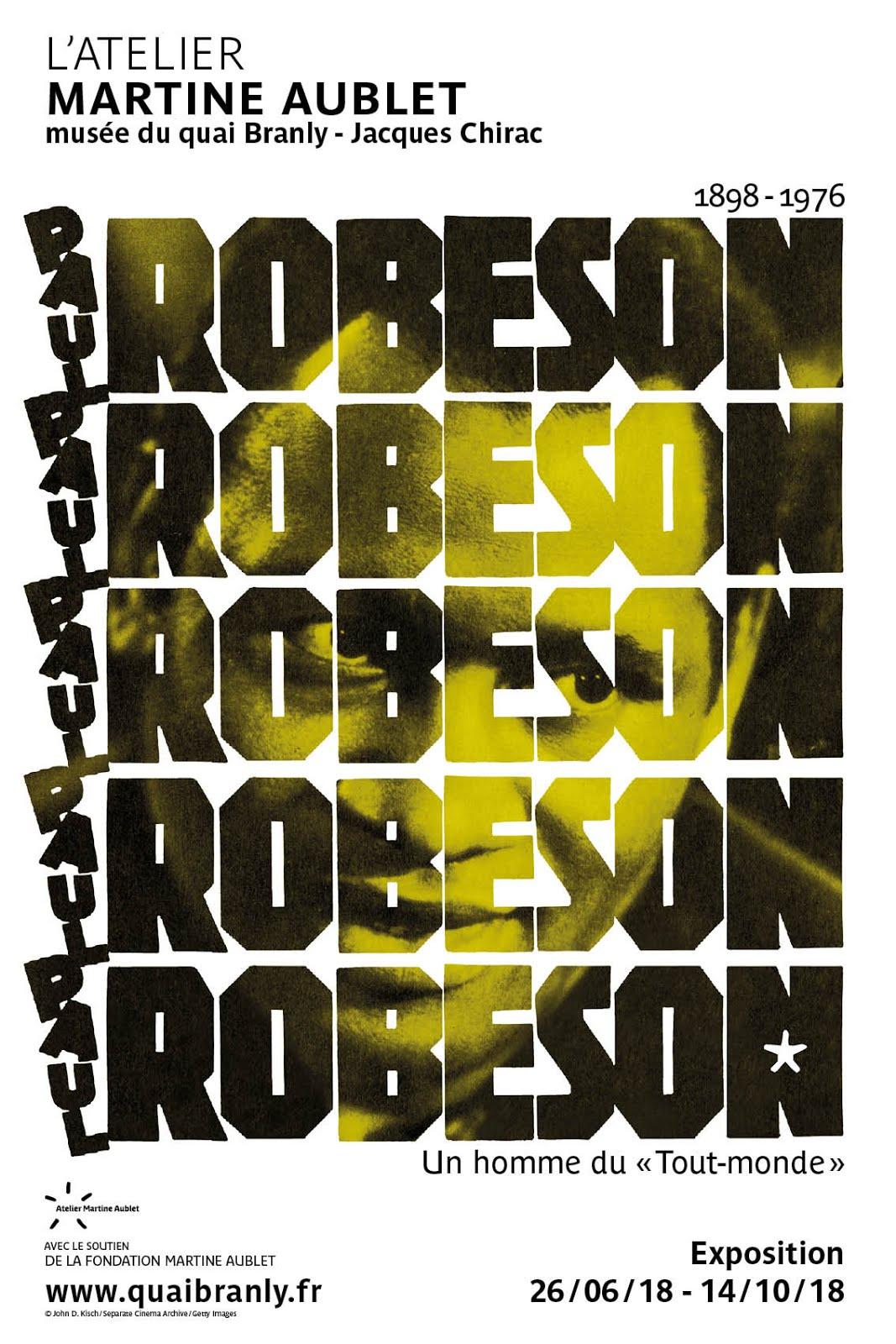 EXPOSITION PAUL ROBESON <br>  MUSÉE DU QUAI BRANLY - JACQUES CHIRAC