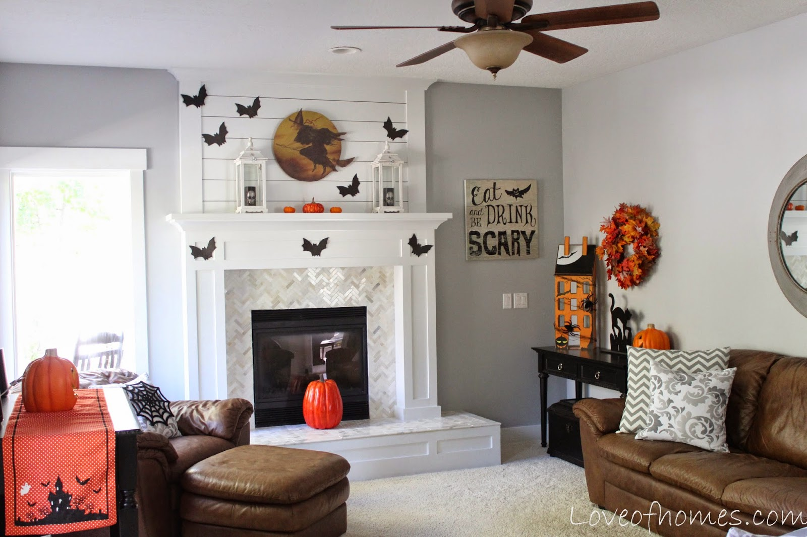 Love Of Homes Halloween Decor 2014 How To Wire A Ceiling Rose In Simple Steps Craftomaniac Monday October 6