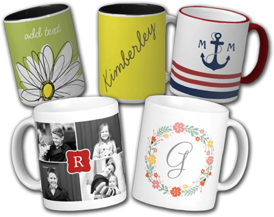 Sip in Style 50% Off Monogram Mugs
