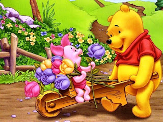 Wallpaper Lucu Winnie The Pooh  dan Piglet