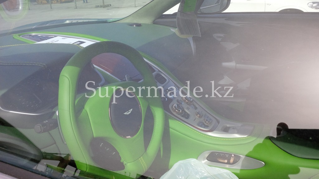 british racing green aston martin one 77 destroyed with lime green interior. Black Bedroom Furniture Sets. Home Design Ideas