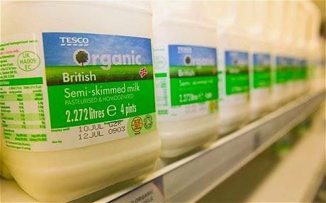 الحليب العضوي فقير في العناصر المعدنية