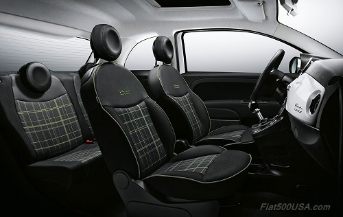 New Fiat 500 Glen Plaid Interior