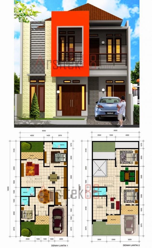 desain rumah minimalis 2 lantai 8 x 15 gambar foto