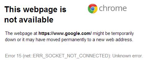 مشكلة جوجل كروم
