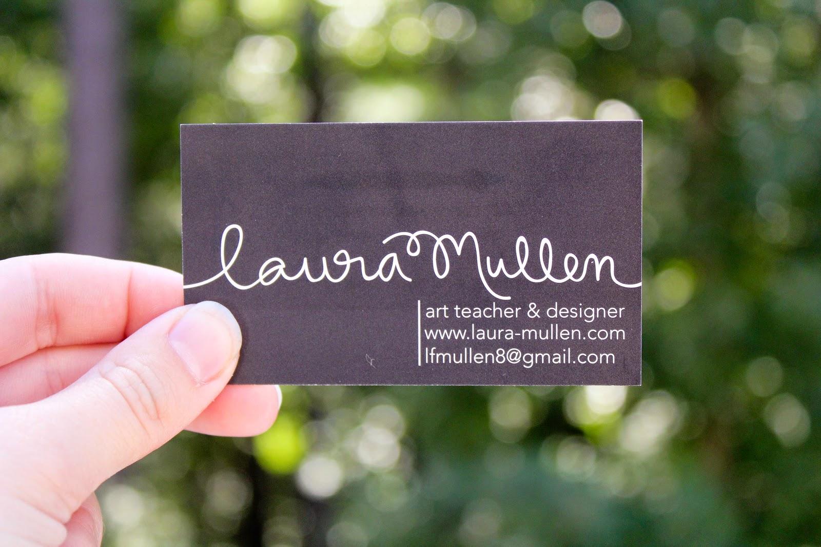 Art Teacher Business Cards | laura frances design blog