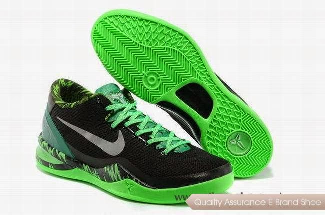 Comfortable Nike Kobe 8 System Black Green Basketball Shoes Cheap