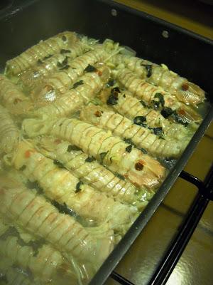 Canoce o canocchie al forno
