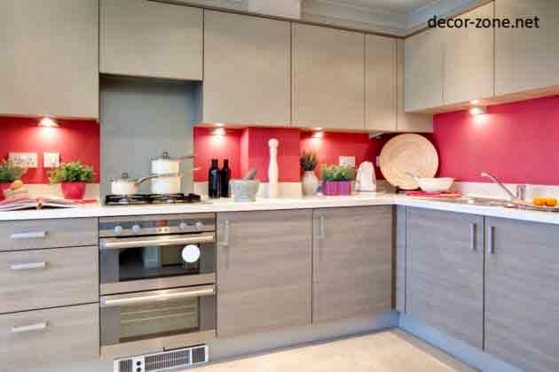 Modern Kitchen Decorating Ideas, White Pink , Kitchen Lighting