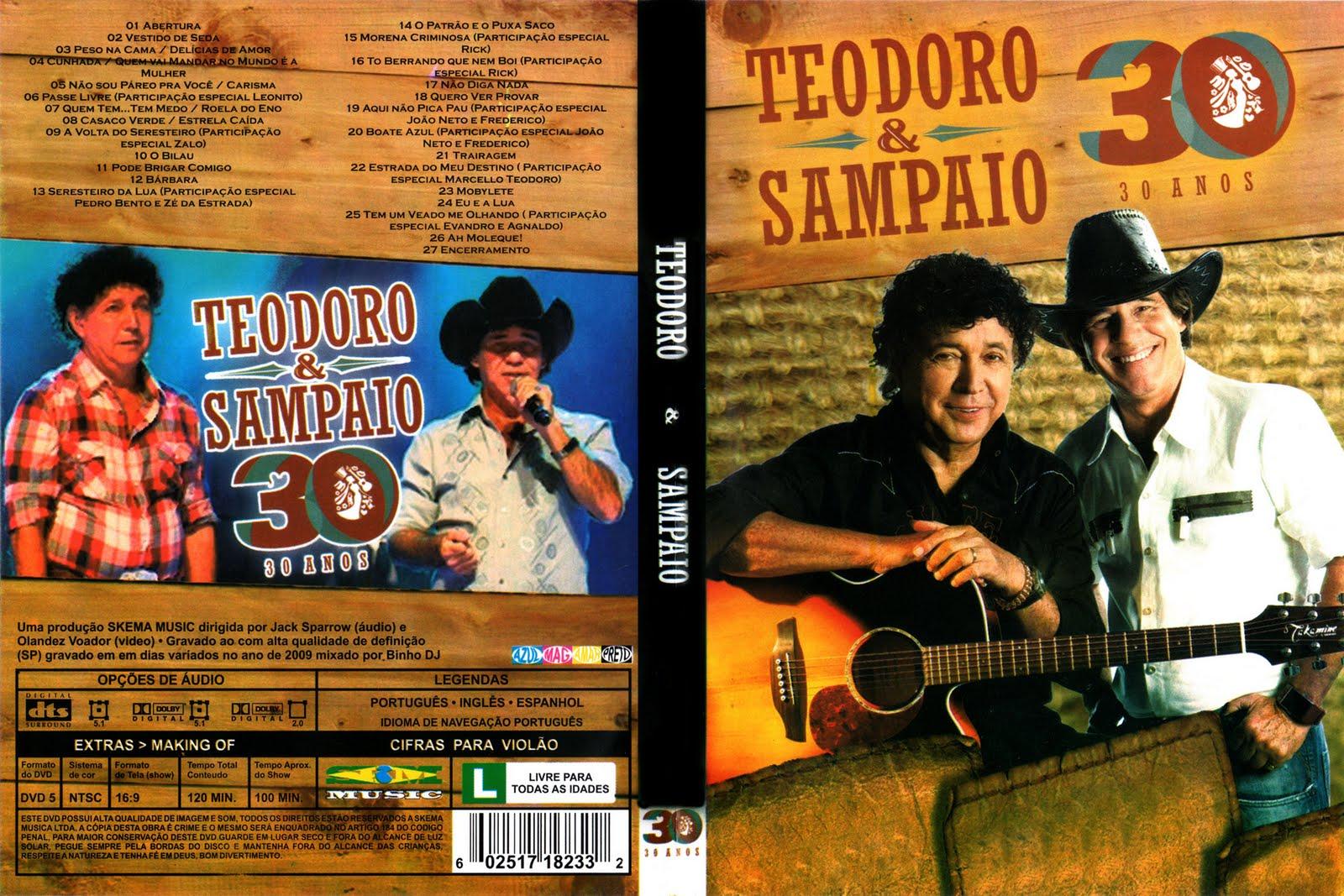 Teodoro e Sampaio 30 Anos Ao Vivo DVDRip XviD (2011) Teodoro  2526 Sampaio   30 Anos