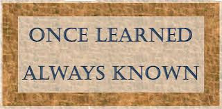 Once Learned, Always Known