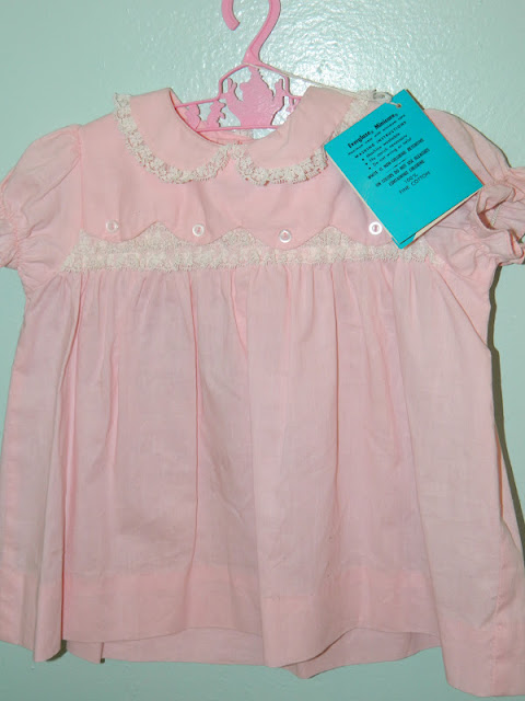 1950s pink baby dress scallop Just Peachy, Darling