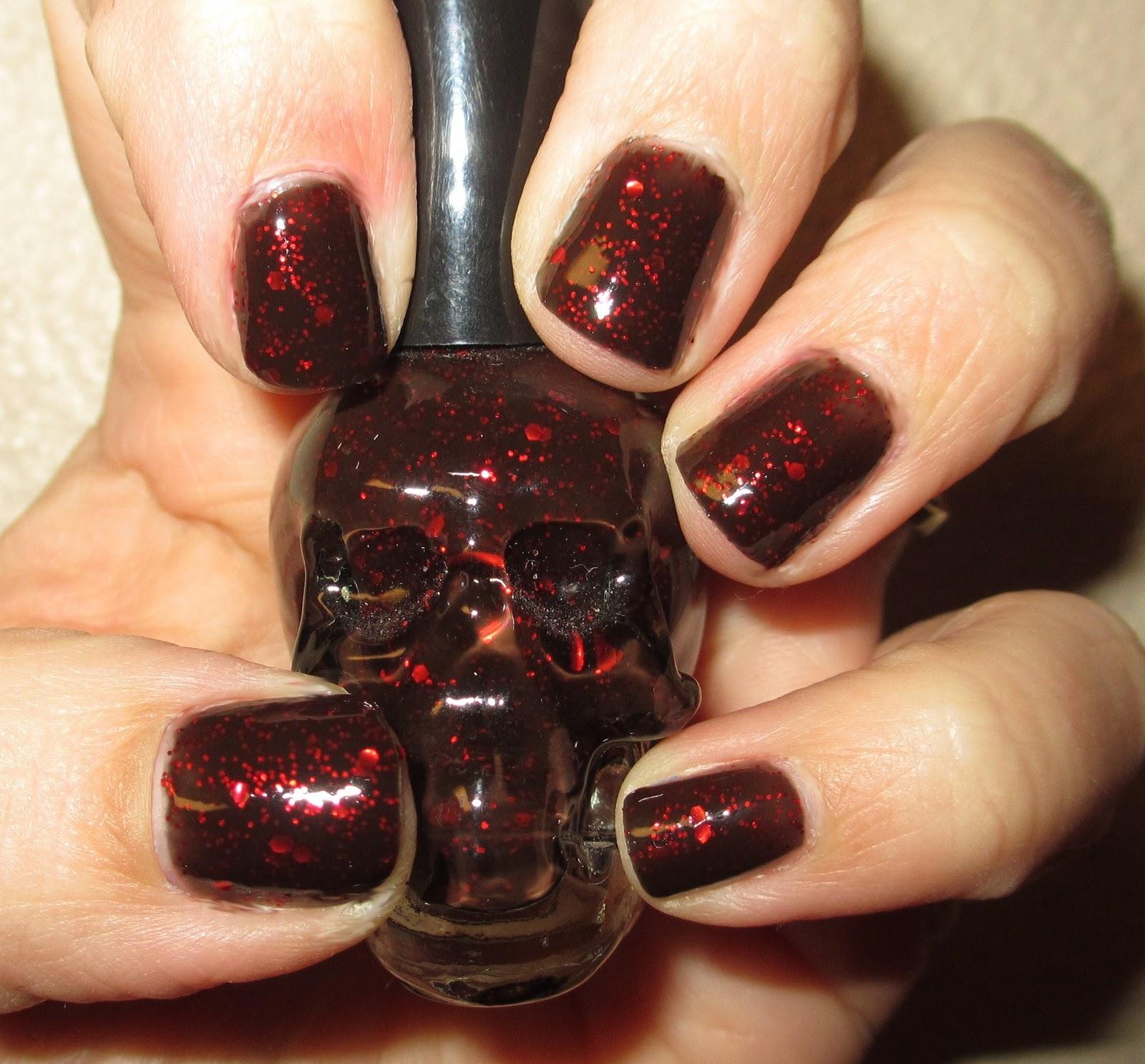 Nail Polish Bottle Cake: Cha Cha Cakes Nails: Blackheart Beautiful Revenge Nail