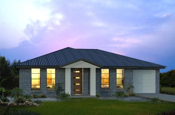 Fachadas de casas de un piso o nivel construye hogar for Casa minimalista de un piso