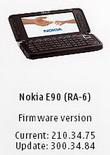 Firmware Update for Nokia E90 Communicator