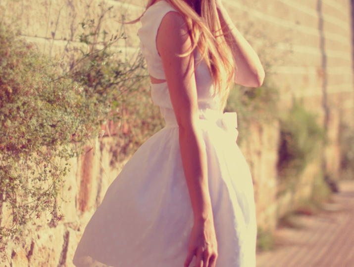 Outfit idea at fashion blog: white little dress by Love Lova for ceremony