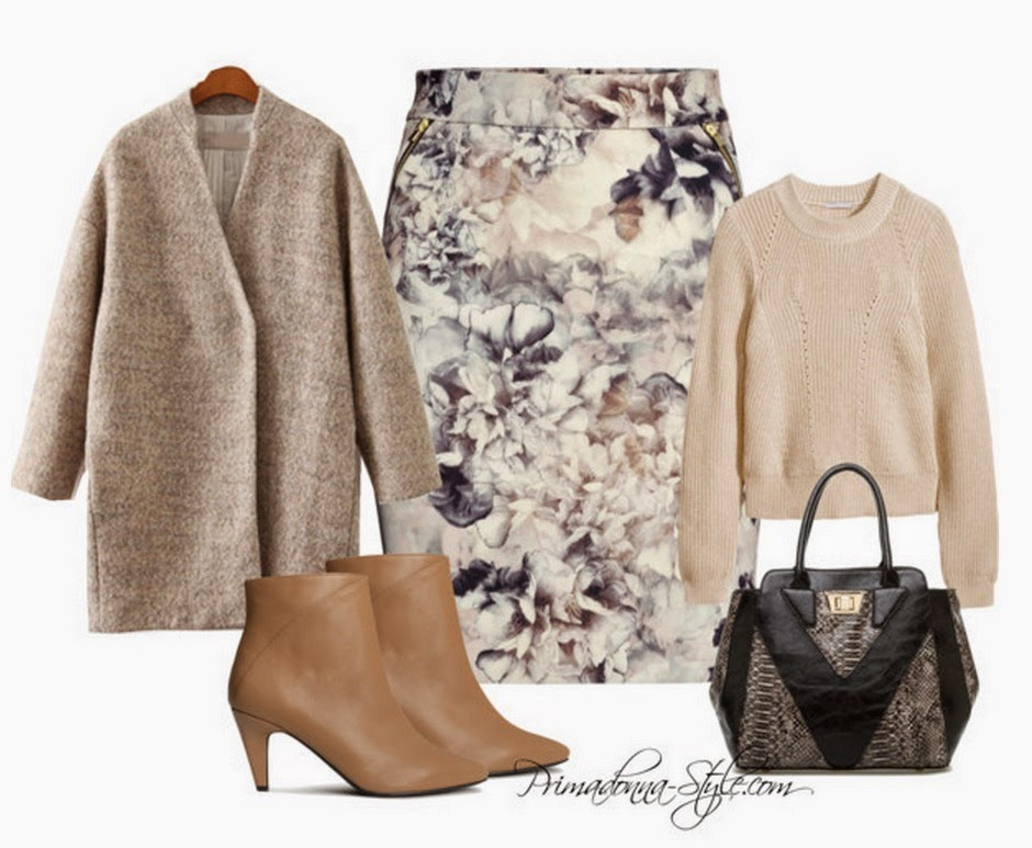 shoedazzle lismore h&m beige boots h&m knit jumper zara sheinside wool coat how to wear what to wear with beige