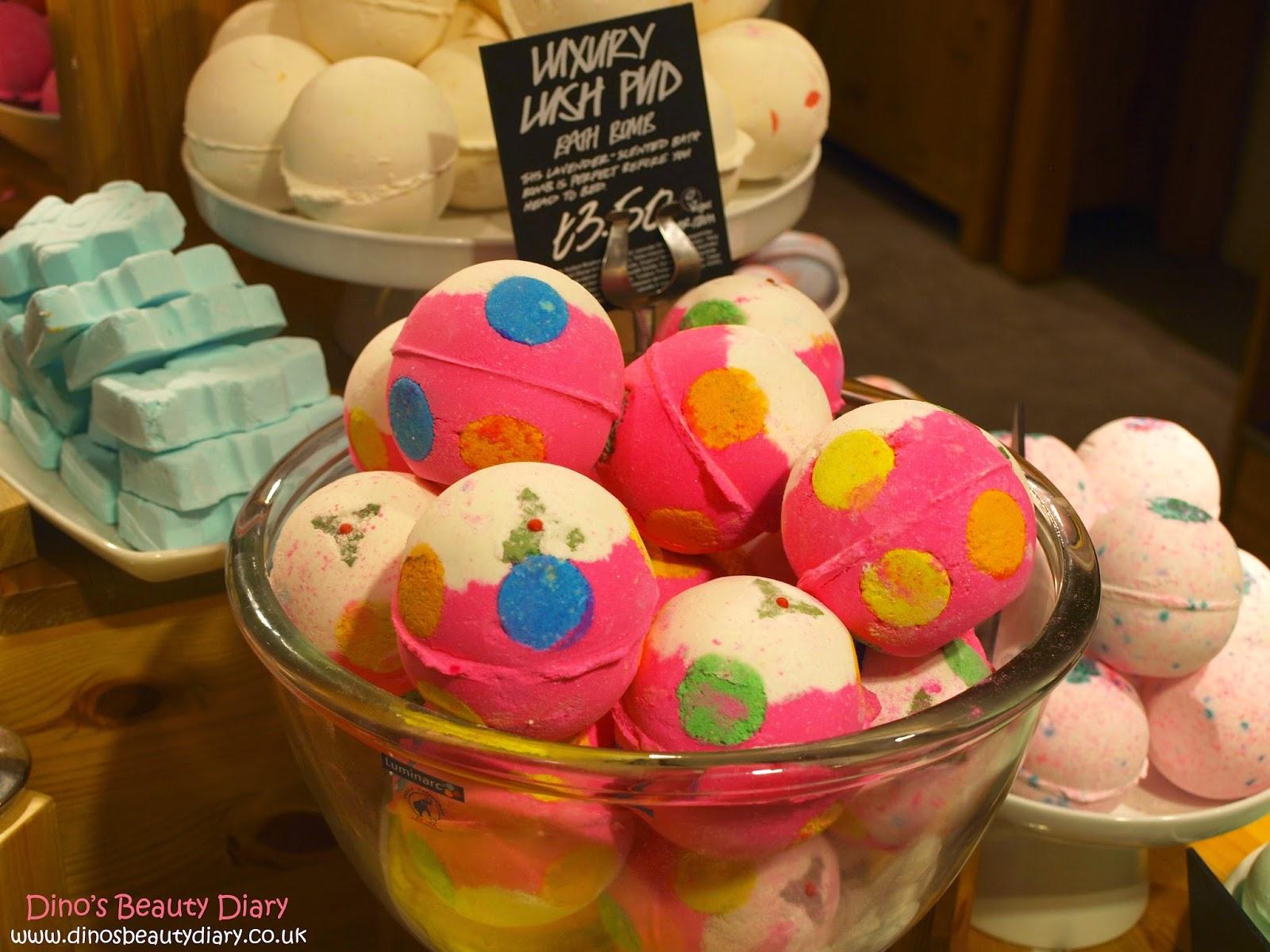 Dino's Beauty Diary - Lush Nottingham Bloggers Event - luxury lush pids bath bombs