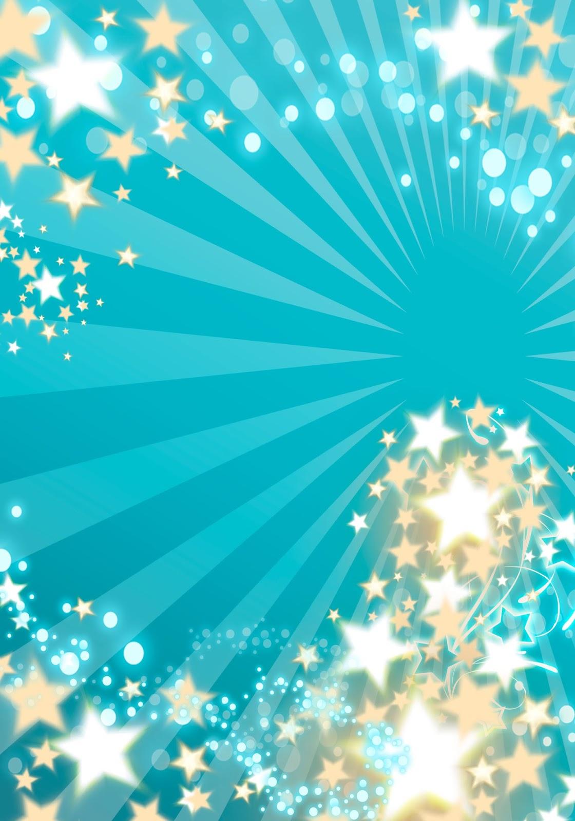 Tarjeta de Invitación para 15 Años Turquesa con Estrellas - DAVINCI