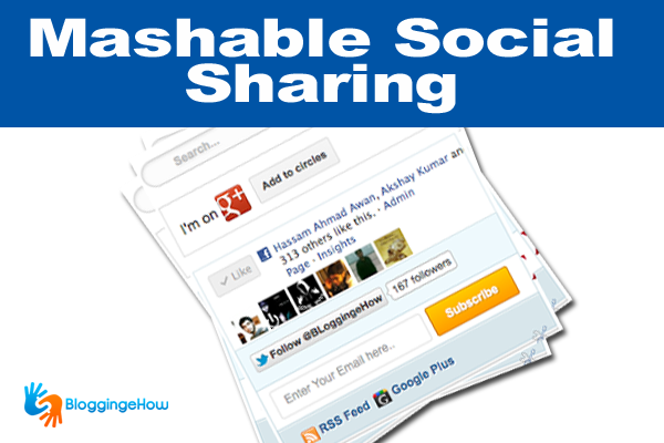 mashable sharing widget with google plus and search box