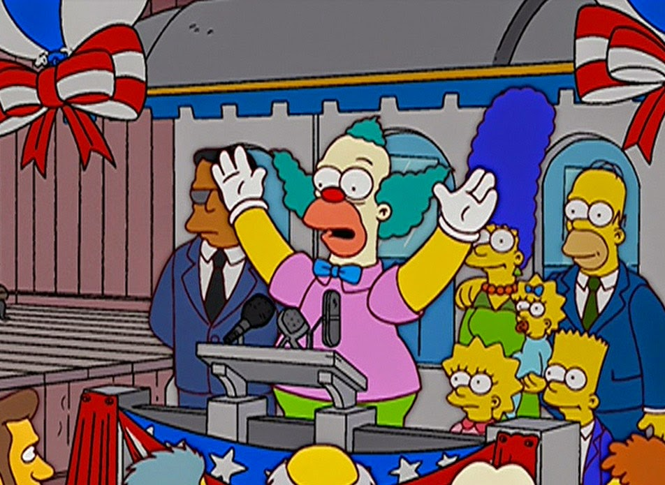 "aviones sobre la casa de los simpsons, ""Krusty va a Washington,Mr. Spritz Goes to Washington"