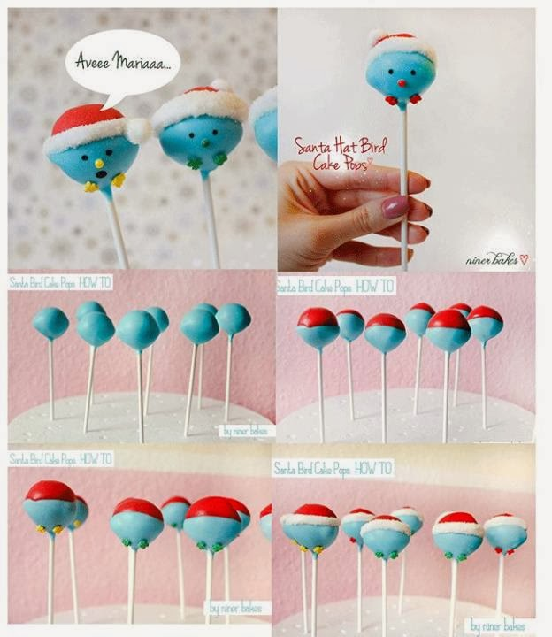 Easy Christmas Cake Pop Decorating Ideas : JUST NOT THE CAKES: Christmas Cake/Cupcake Toppers Ideas